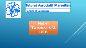 Night Tutorat n°2 UE6