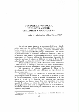 Cahier Marcel Jousse N°9 (Novembre 2002, tome II)