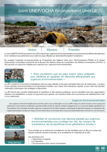 Joint UNEP/OCHA Environment Unit (JEU)