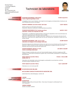 Consulter le CV complet