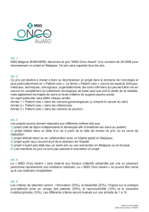 Onco award reglement fr nl MAY16.indd