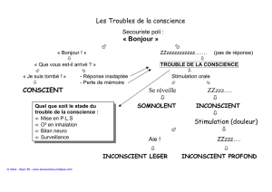 Les Troubles de la conscience - Secourisme