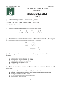 CHIMIE ORGANIQUE - Fichier