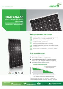 Fiche technique panneau solaire de Jinko Solar