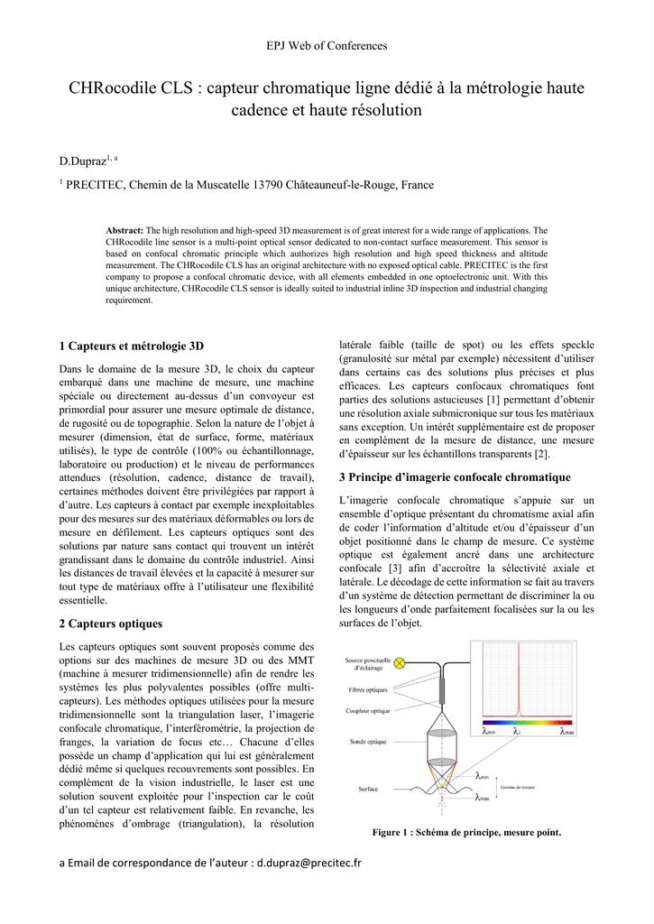 Chrocodile Cls Capteur Chromatique Ligne Dedie A