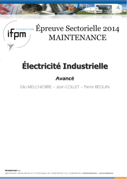 Syllabus Maintenance : Electricité Industrielle - Avancé