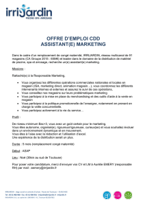 offre d`emploi cdd assistant(e) marketing