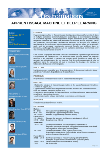 apprentissage machine et deep learning