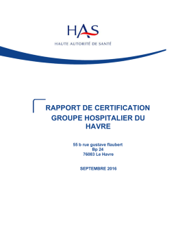 Le rapport de certification HAS