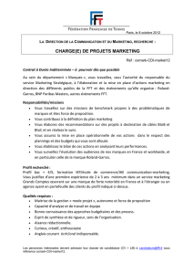 charge(e) de projets marketing