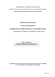 marketing international et exportation