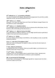 Dates obligatoires 6
