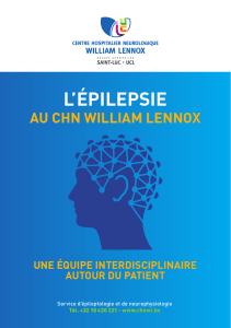 l`épilepsie - Centre Neurologique William Lennox