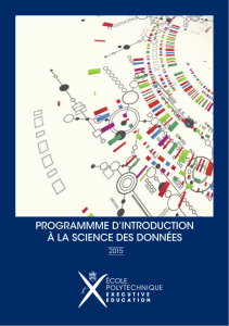 PROGRAMMME D`INTRODUCTION À LA SCIENCE DES DONNÉES
