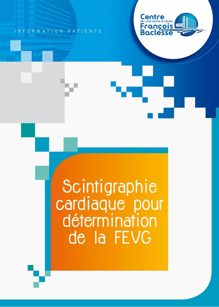 Scintigraphie Cardiaque Pour Determination De La Fevg