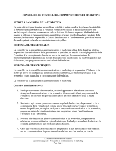Conseiller communications et marketing