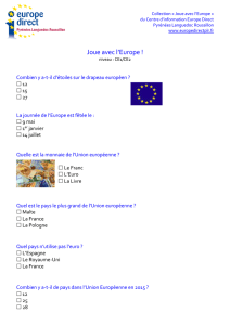 Quiz CE1 CE2 - Europe Direct