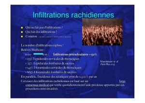 Infiltrations rachidiennes!