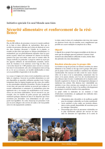 Securite alimentaire
