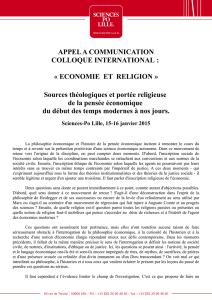 APPEL A COMMUNICATION COLLOQUE INTERNATIONAL