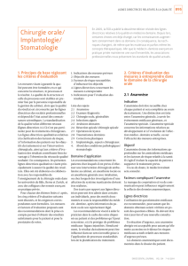 Chirurgie orale/ Implantologie/ Stomatologie