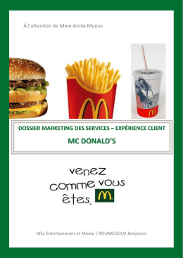 Analyse terrain marketing des services – McDonald`s - UL2011-2012