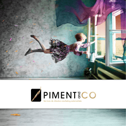 Brochure externalisation marketing Piment and Co