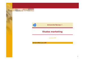 ETUDES MARKETING 2014