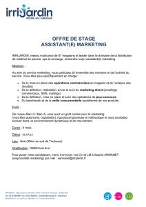 offre de stage assistant(e) marketing