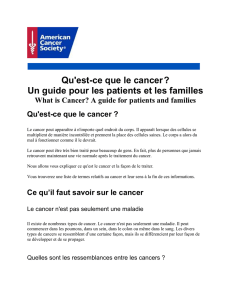 Qu`est-ce que le cancer - American Cancer Society