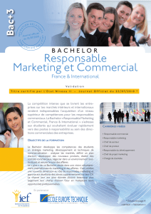 Responsable Marketing et Commercial