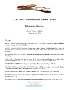 Bibliographie additionnelle du colloque