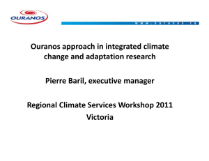 Ouranos approach in integrated climate pp g change and adaptation