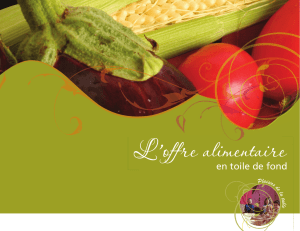 L`offre alimentaire