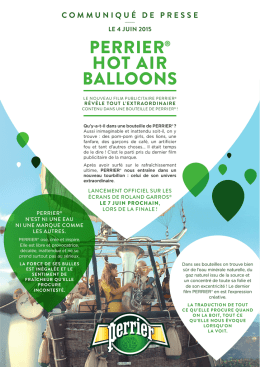 perrier® hot air balloons
