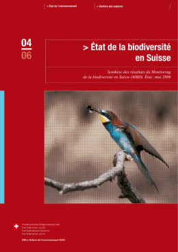 Ét t de l biodiversité en Suisse - Alps Know-How