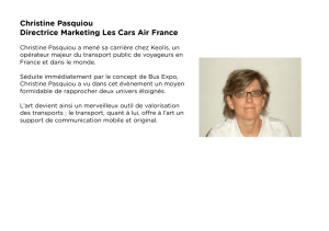Christine Pasquiou Directrice Marketing Les Cars Air France