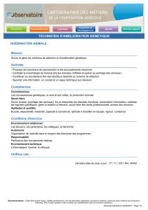 TECHNICIEN D`AMELIORATION GENETIQUE