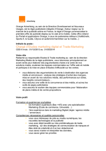 Chargé d`Etudes marketing digital et Trade-Marketing