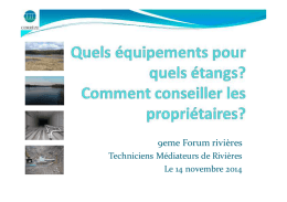 10-CPIE correze Usages et impacts Etangs