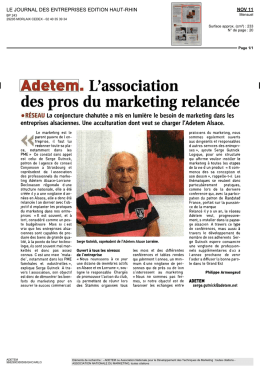 Adetem. L`association des pros du marketing relancée