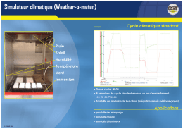 Simulateur climatique (Weather-o-meter)