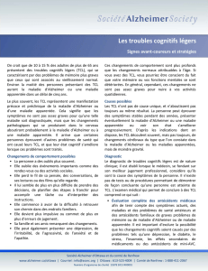 Les troubles cognitifs légers - Alzheimer Society of Ottawa and