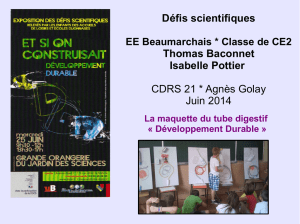 Défis scientifiques Thomas Baconnet Isabelle Pottier CDRS 21