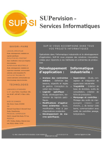 SUPervision - Services Informaques - SUP