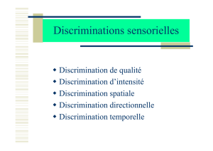 Discriminations sensorielles