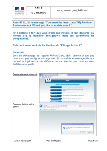 "Avec IE 11, j`ai le message ""You need the latest Java(TM"