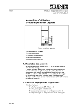 Instructions d`utilisation Module d`application Logique