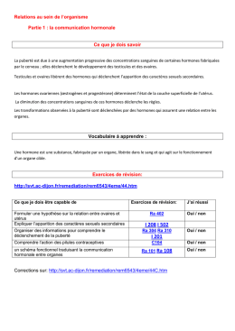la communication hormonale