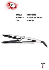marque: remington reference: s7412ds air plates codic